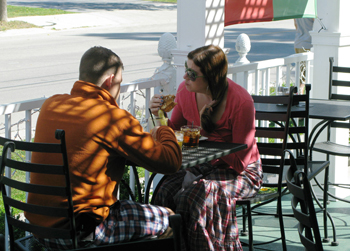 Bistro Bar and Grill outdoor dining in Egg Harbor Wi