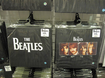 MAde in Britain Beatles shirts in Egg Harbor Wi shop