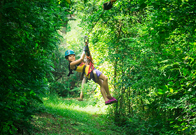 Lakeshore adventures zip lining canopy